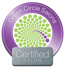 Green Circle Salons, Certified Salon Logo links to the Green Circle salon website