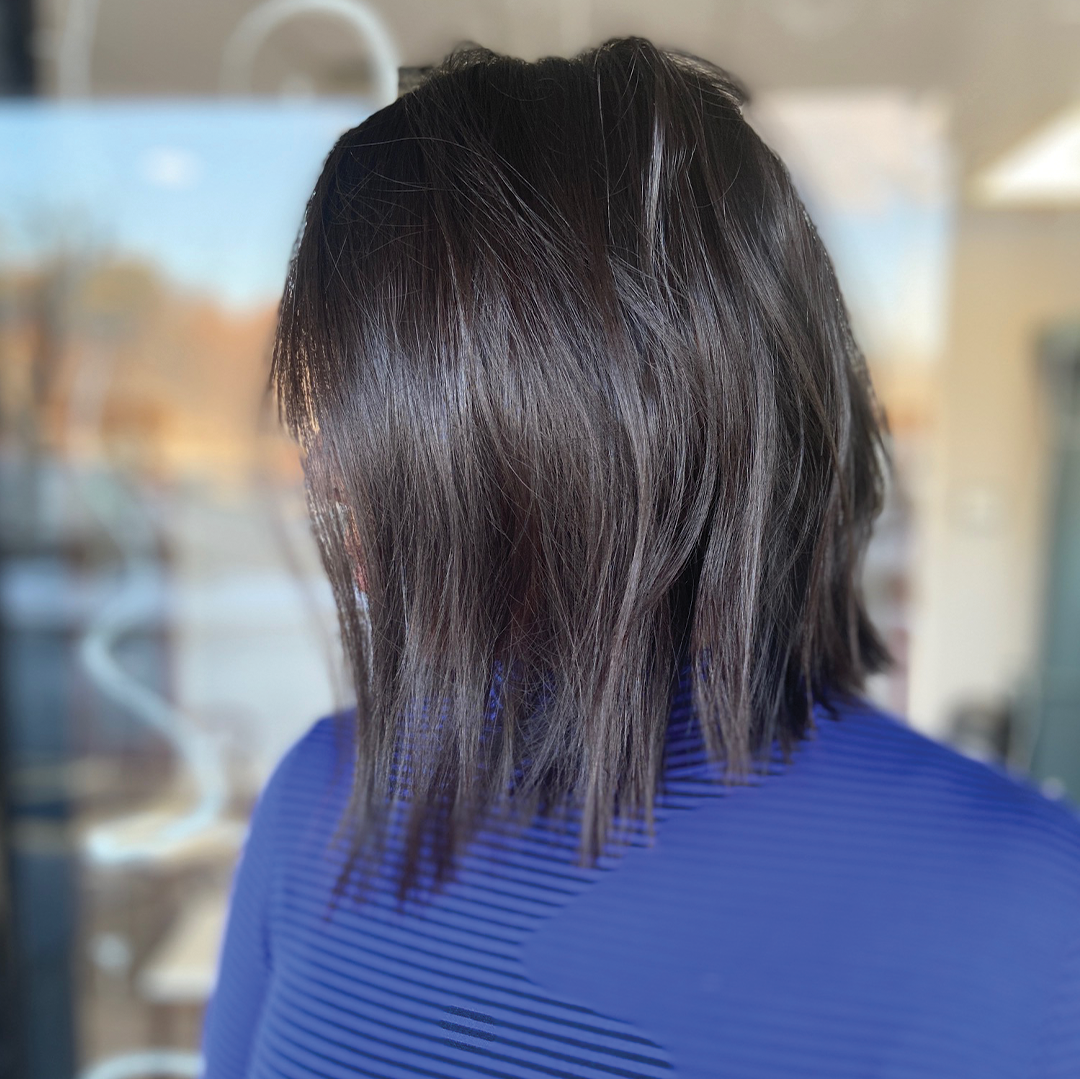 About us gallery, dark brown bob haircut