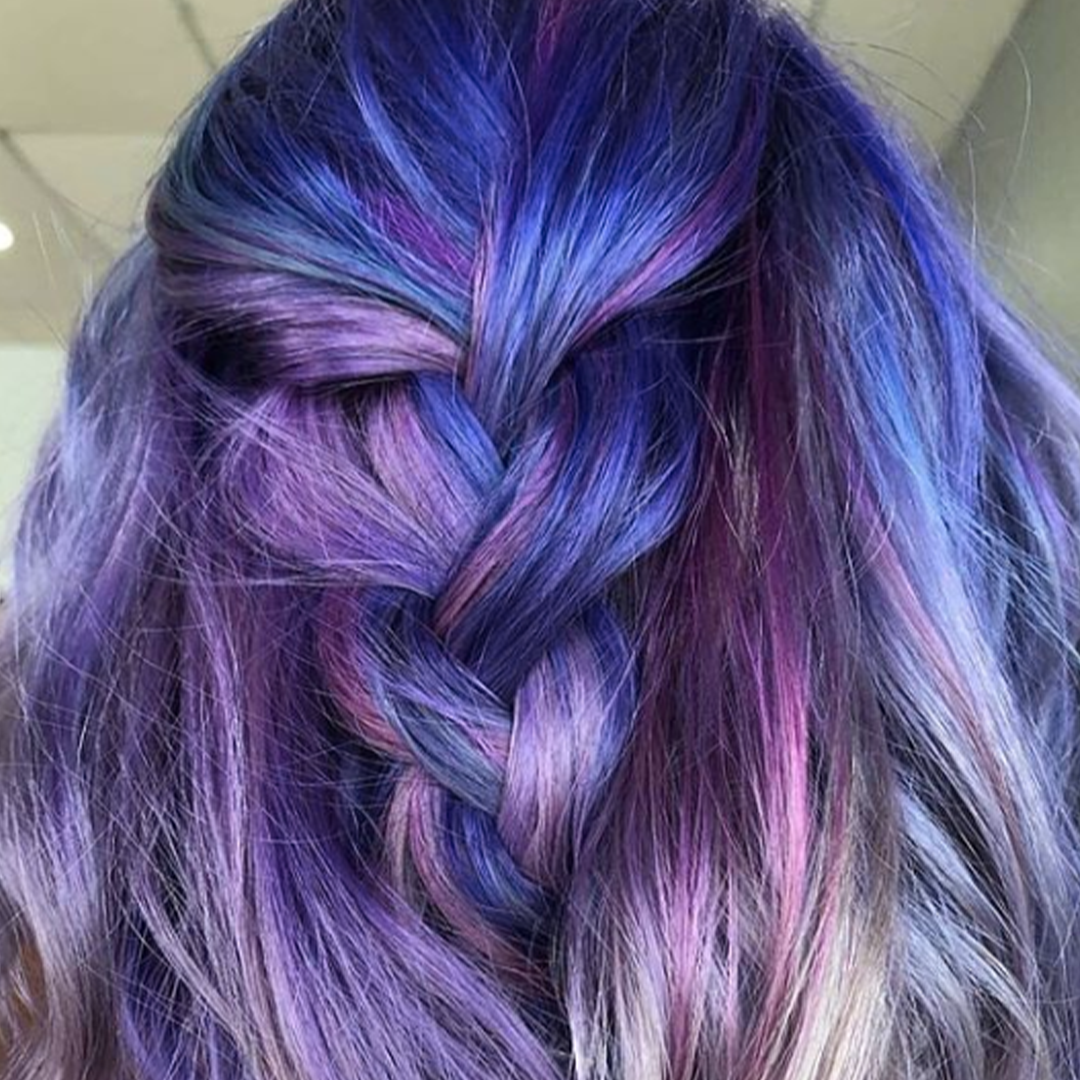Blue and purple hair color