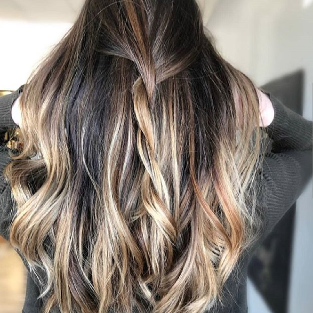 Brown balayage hair cut