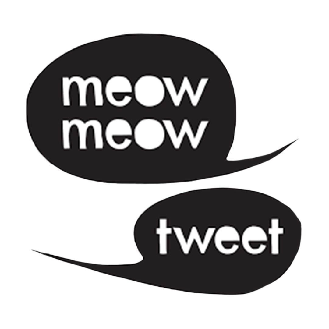 Meow Meow Tweet logo sold at The L Salon